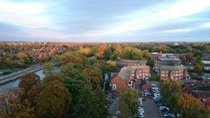 View over Duckmill Lane Bedford