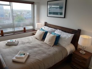 Bedford apartment to rent showing 2nd bedroom with views